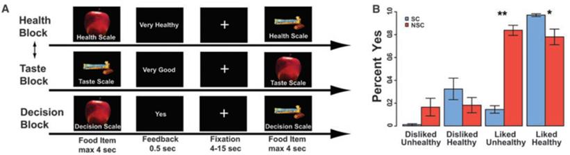 self-control food decision task