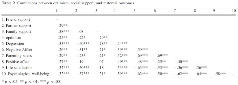 autism parenting optimism negative positive affect